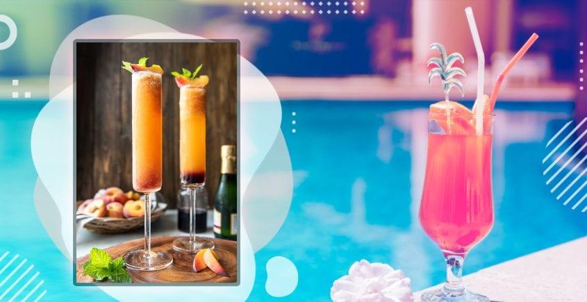 Intensiv Peach Bellini Cocktail