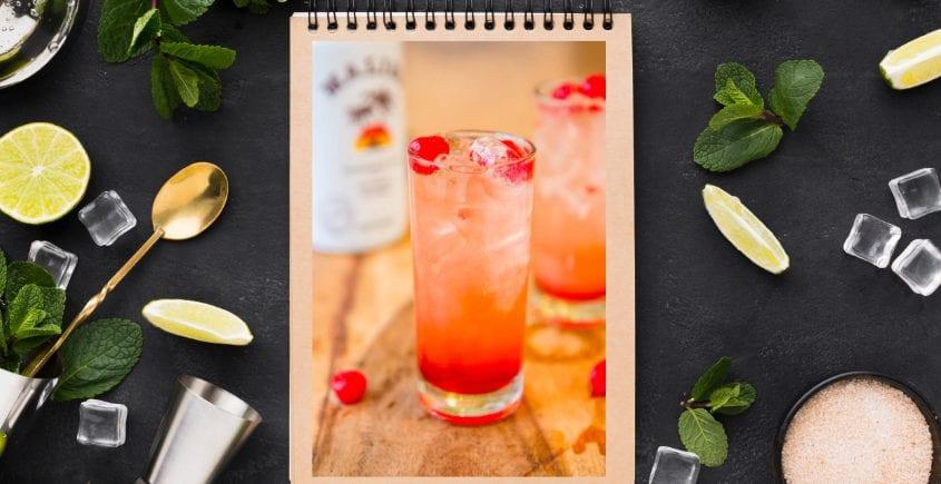 Lecker Malibu Sunset Cocktail