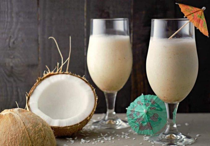 Pina Colada Cocktail Mit Kokosmilch