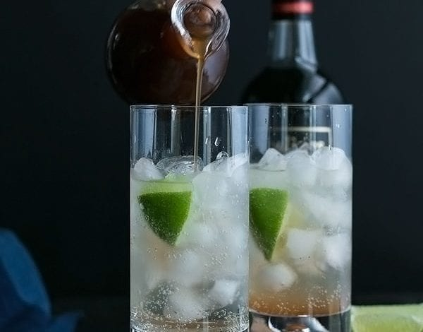 Rum and Ginger Cocktail
