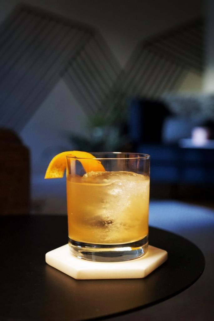 Apricot Ginger Whiskey Sour