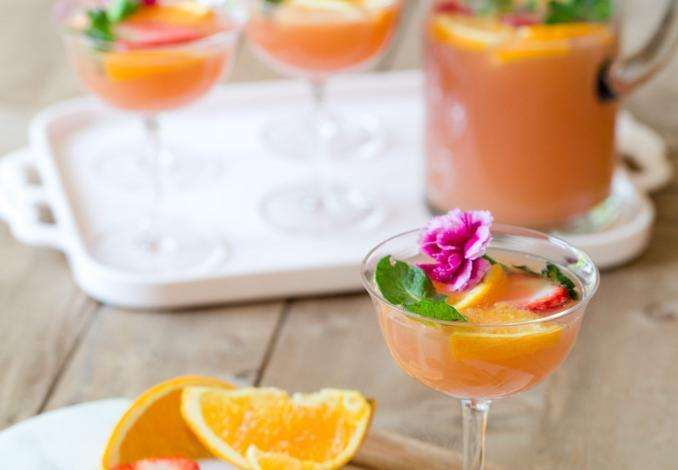 Brunch Punch Champagne Cocktail