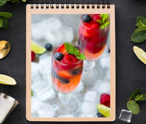 Champagne Punch with Berries-1