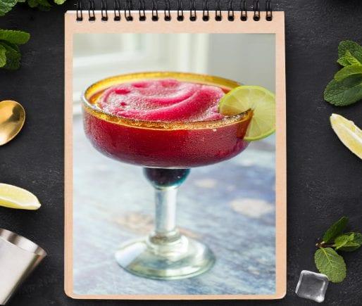 Frozen Prickly Pear Margarita