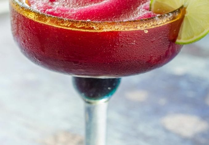 Frozen Prickly Pear Margarita