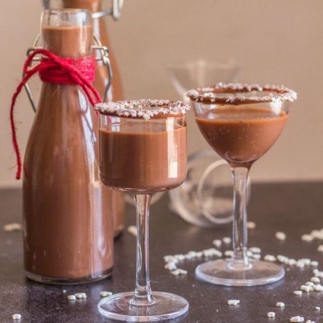 Homemade Creamy Nutella Liqueur