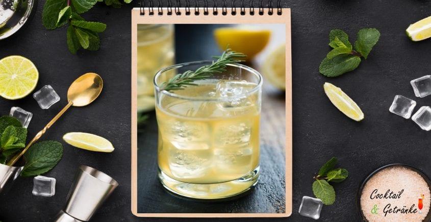 Lemon & Rosemary Whisky Sour
