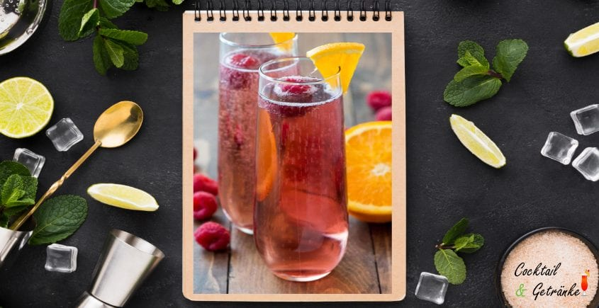 Pink Champagne Punch Cocktail