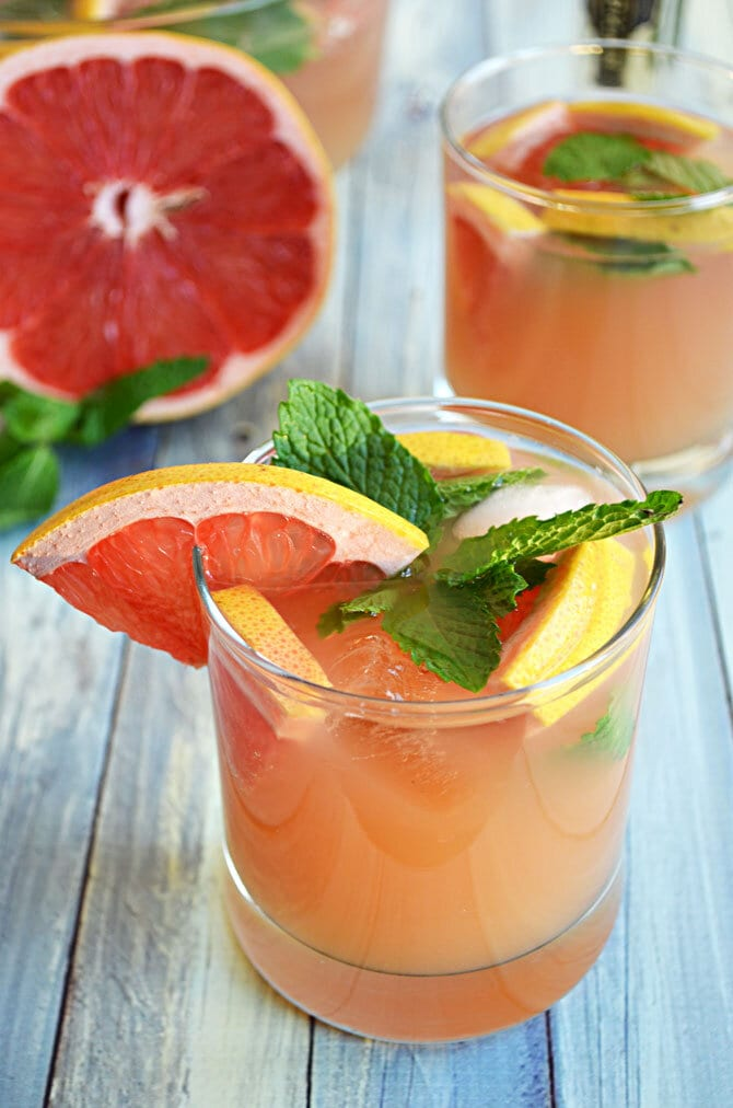 Ruby Red Champagne Punch