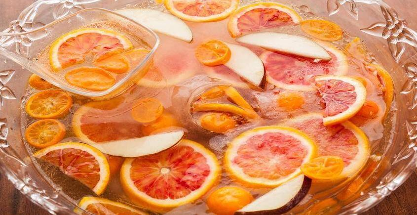 Spiced Pear Champagne Punch