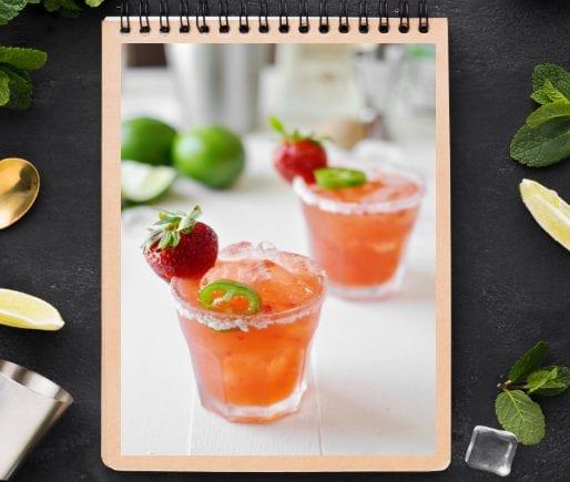 Strawberry Jalapeño Margarita-3