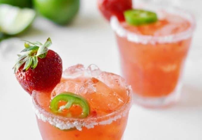 Strawberry Jalapeños Margarita-1
